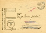Berlin Finance Office Mail:Jewish Mail Recipient Cannot Be Located