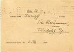 Judenrat Litzmannstadt Receipt of Money