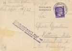 Postcard from Theresienstadt with Reply Instruction Cachet