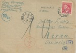 Theresienstadt Package Receipt Postcard
