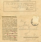 Letter on Auschwitz Inmate Stationery