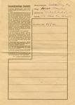 Censored Prisoner Letter Sheet for Polish Prisoner on First Transport to Auschwitz