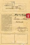 Letter on Dachau Inmate Stationery