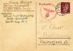 Censored Letter from Simon Neisser in Berlin to Dr. Lauer in Biel, Switzerland on Eve of Deportation to Theresienstadt.  Letter Mailed by Werner Carl Rabinowitz