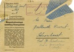 Neuengamme Concentration Camp Correspondence