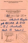 Auschwitz Package Receipt