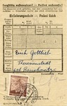 Theresienstadt Package Receipt