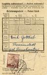 Theresienstadt Package Receipt