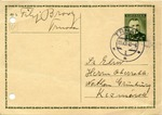 Postcard in Yiddish