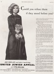 Saturday Evening Post Advertisement for the United Jewish Appeal