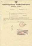 Letter Regarding a Jew's Tailor Shop, Which Was Seized and Given to a German