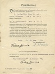 Contract Signed by Heinrich Himmler