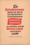 Antisemitic NSDAP Propaganda Poster