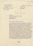 Letter from Karl Herman Frank