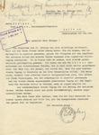 Letter from Alfred Rosenberg