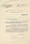 Letter from Baldur von Schirach
