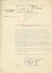 Letter from Werner Blankenburg
