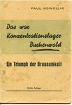 Bunchenwald Concentration Camp Pamphlet