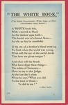 """The White Book"" Poem Postcard"