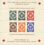 Polish Red Cross Souvenir Stamp Sheet Commemorating Polish Victims of Dachau