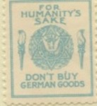 American Boycott German Goods Stamp