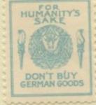 American Boycott German Goods Stamp