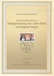 Edith Stein and Rupert Mayer Commemorative Sheet