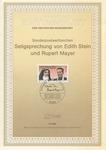 Edith Stein and Rupert Mayer Commemorative Sheet