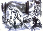 Illustration of Auchwitz by David Olere