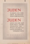 """Juden"" Poem by Joseph Goebbels Broadside"