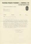 Georg and Hedwig Hirschfeld Letter