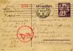 Postcard from Warsaw Ghetto to the USSR