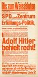 Elect Hitler Political Flier