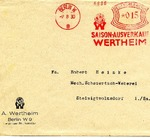 The Arianization of Wertheim: a Postal History of the Jewish-Owned Department Store from 1931 - 1939