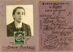 Identification Card for Irene Erdheim, a Jewish Woman from Vienna, Austria