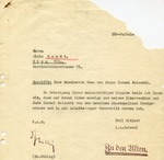 Complaint Letter Against a Jew Results in Arrest and Placement in Detention Camp by Gestapo