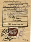 Theresienstadt Ghetto Package Receipt