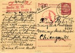 "Third Reich ""Israel"" Postal Reply Card"