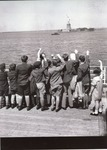 Copy of Press Photo of Jewish Refugee Children Aboard Liner President Harding