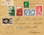 Censored German Occupation of France Cover to Belgium
