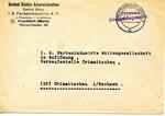 Official I.G. Farben Envelope of U.S. Administration