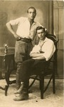 Hashomir Hatzair: Two Young Men in White Shirts