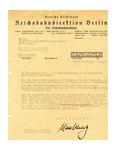 Concentration Camp Transport Preparation Letter
