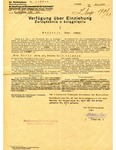 Notice of Confiscation of Jewish Property