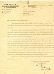 Letter from Der Aeltestenrat der Judischen Kultusgemeinder (Fanny Sara Czarna), Sosnowitz, Poland To Alfred Swarcbaum, Lausanne, Switzerland