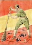 Spanish Falangista Propaganda Poster and Ration Coupons
