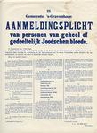 German Order to Register All Dutch Jews Broadside