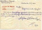 Letter from Lancut, Poland to Officer POW