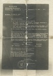 Nazi Membership Annulled. Photocopy of Document