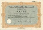 Stock Certificate for Degussa and Dessauer (1000 Reichsmark)